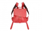 Tornister skórzany Voyager asymmetric backpack red malaga