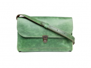 Torba skórzana Indiana Medium Lock (green malaga)
