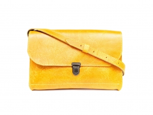 Torba skórzana Indiana Medium Lock (yellow malaga)